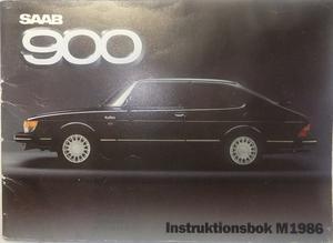 1986 SAAB 900 Instruktionsbok