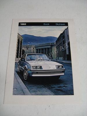 1982 Buick Skyhawk Försäljningsbroschyr