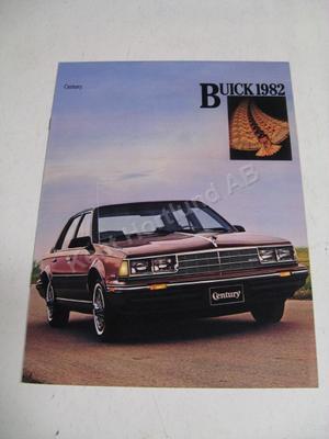 1982 Buick Century Försäljningsbroschyr