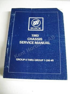 1983 Buick Chassis service manual