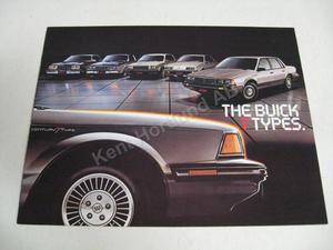 1984 Buick T-types Försäljningsbroschyr