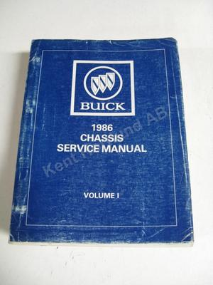 1986 Buick Chassis service manual vol.1