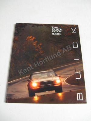 1986 Buick Lyxbroschyr