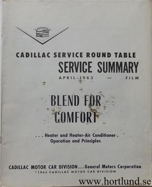 1963 Cadillac Service summary April 1963
