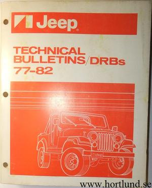 1977-1982 Jeep Technical Bulletins