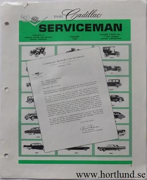 1963 Cadillac Serviceman January