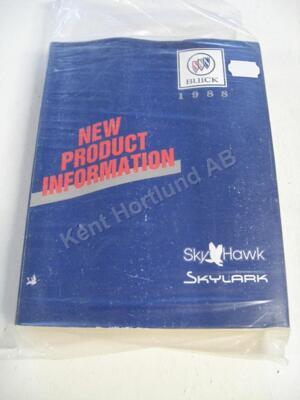 1988 Buick Sky Hawk, Skylark new product information