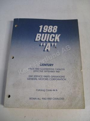 1988 Buick Century Parts and illustration catalog A