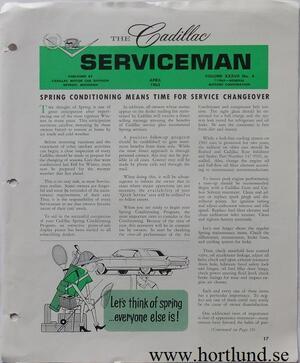 1963 Cadillac Serviceman April