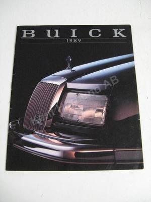 1989 Buick Försäljningsbroschyr