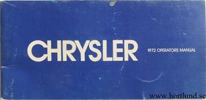 1972 Chrysler Operators Manual