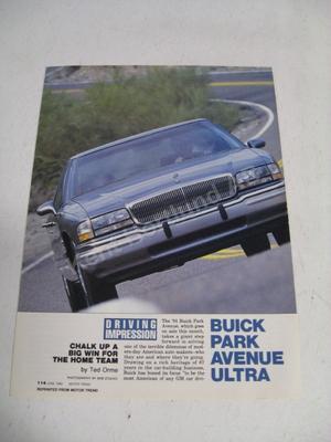 1991 Buick Park Avenue Ultra Försäljningsbroschyr