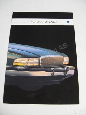 1992 Buick Park avenue Försäljningsbroschyr
