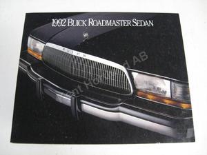 1992 Buick Roadmaster sedan Försäljningsbroschyr