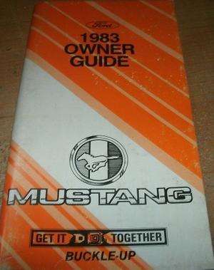 1983 Mustang Owner's Manual