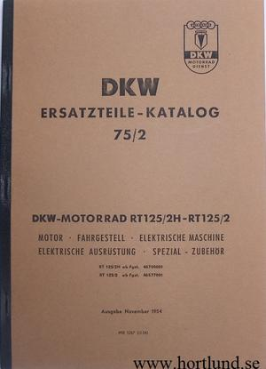1940-1952 DKW RT 125 Instruktionsbok