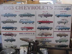 1963 Chevrolet Showroom-tavla