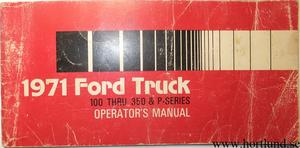 1971 Ford Truck 100-350 Operator's Manual