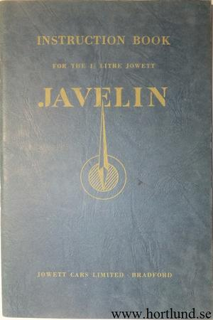 1951 Jowett Javelin Instruction Book