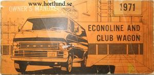 1971 Ford Van Owners Manual