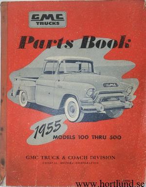 1955 GMC Parts Book Models 100 thru 500