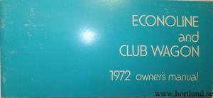 1972 Ford Van Owners Manual