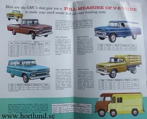 1962 GMC V-6 Pickup Trucks Broschyr