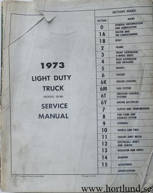 1973 GMC Truck Service Manual