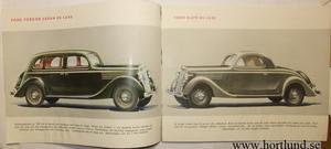 1935 Ford V8 broschyr svensk