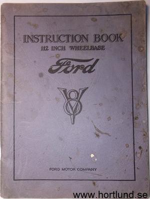 1933 Ford V-8 Instruction book