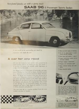 1960 SAAB 96 broschyr