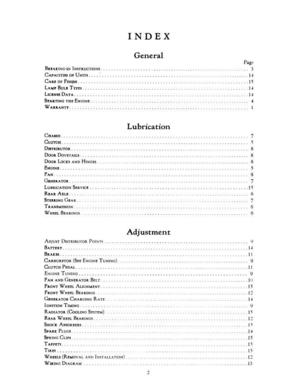 1933 Essex Terraplane Six Owners Manual