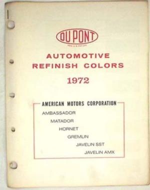 1972 AMC Du Pont lackkarta