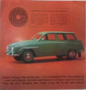 1966 SAAB 95 broschyr