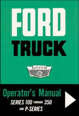 1964 Ford Truck 100-350 Owners Manual