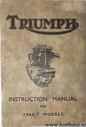 1946 1947 Triumph Instruction Manual
