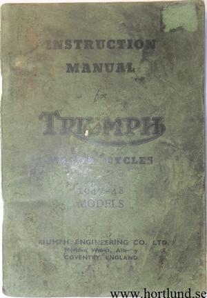 1947 1948 Triumph Instruction Manual