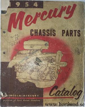1954 Mercury Chassis Parts Catalog