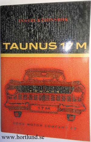 1959 Ford Taunus 17 M Instruktionsbok