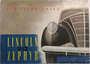 1937 Lincoln Zephyr V-12 broschyr