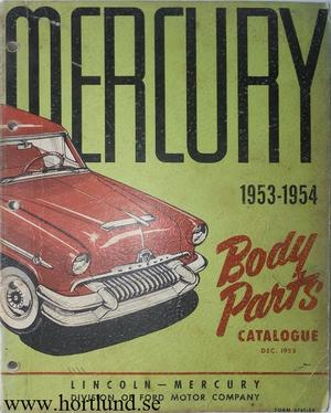 1954 Mercury Body Parts Catalog