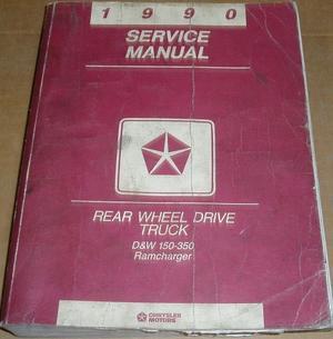 1990 Dodge D&W 150-350 Service Manual