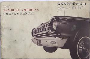 1965 Rambler American Owner's Manual