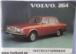 1975 Volvo 264 Instruktionsbok