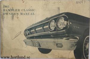1965 Rambler Classic Owner's Manual