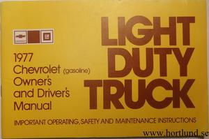 1977 Chevrolet Light Duty Truck Owners Manual