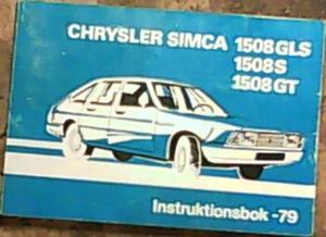 1979 Chrysler Simca 1508 instruktionsbok svensk