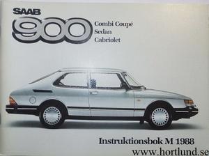 1988 SAAB 900 Instruktionsbok