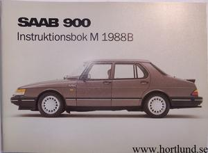 1988B SAAB 900 Instruktionsbok