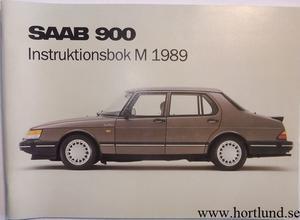 1989 SAAB 900 Instruktionsbok